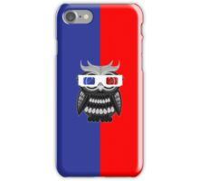 Owl - 3D Glasses iPhone Case/Skin