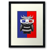 Owl - 3D Glasses Framed Print