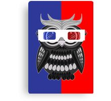 Owl - 3D Glasses Canvas Print