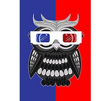 Owl - 3D Glasses Photographic Print