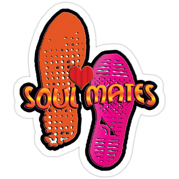 soul mates - sticker by vampvamp