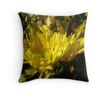Yellow tips Throw Pillow