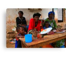 Street Vendors - Democratic Republic of Congo Canvas Print