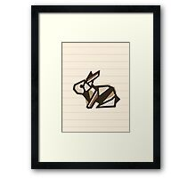 Paper Anigami Bunny Framed Print