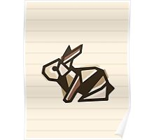 Paper Anigami Bunny Poster