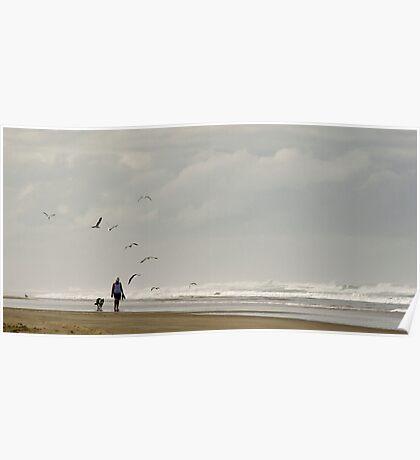 Beach Combers - Baylys Beach NZ Poster