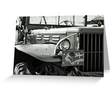 WWII U.S. Jeep Greeting Card