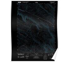 USGS Topo Map Oregon Fields Basin 20110818 TM Inverted Poster