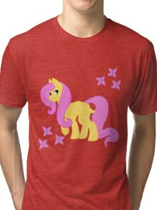 Fluttershy and her butterflies Tri-blend T-Shirt