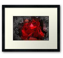 """""""My Precious Valentine..."""" Framed Print"""