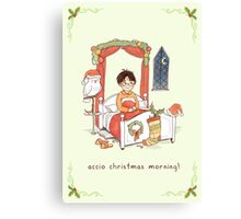 Accio Christmas Morning! Canvas Print