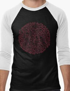 Cycling on Red Pedals Men's Baseball ¾ T-Shirt