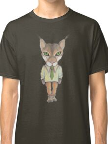 Funny lynx in a suit and tie. Hipster lynx. Lynx boss. Classic T-Shirt