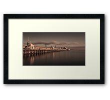 The Pier At Sunrise Framed Print