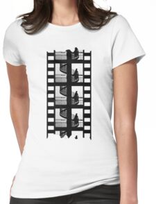 Old Movie Style Womens Fitted T-Shirt