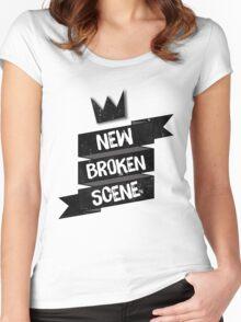 NEW BROKEN SCENE II  Women's Fitted Scoop T-Shirt