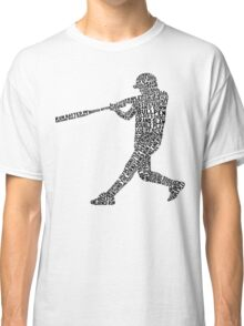 Softball Baseball Player Calligram Classic T-Shirt
