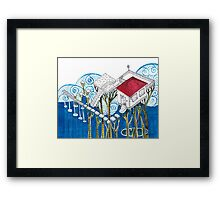 Sketch 6 ... raining Framed Print