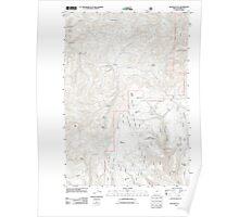 USGS Topo Map Oregon Big Rock Flat 20110816 TM Poster