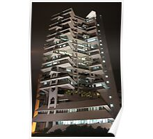Intiland Tower (by night) Poster