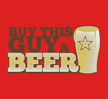 Buy this GUY a BEER! with pint glass One Piece - Short Sleeve