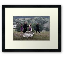 Kelly and Matts Wedding Framed Print