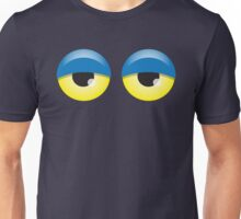 Dopey looking Blue lidded eyes Unisex T-Shirt