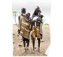 THREE GENERATIONS OF THE MURSI TRIBE Poster
