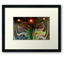Space Flower © Framed Print