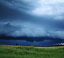 Blue Shelf Cloud by SouthBrisStorms