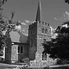 Anglican church - Queenstown by Paul Gilbert