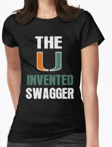 The U Invented Swagger Miami Canes Womens Fitted T-Shirt