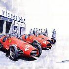 Team Ferrari 500 F2 1953 German GP by Yuriy Shevchuk