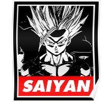 Son Gohan Saiyan obey style Poster