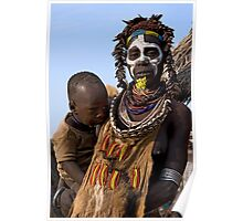 KARO TRIBE - MOTHER AND CHILD Poster