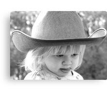 cute cowgirl Canvas Print