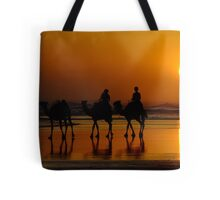 Camel Riding On Sunset Tote Bag