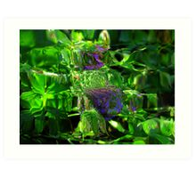 Abstract of Purple Flora Art Print