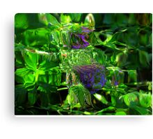 Abstract of Purple Flora Canvas Print