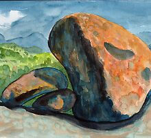 Rocks on Evans Crown by Adrian Symes