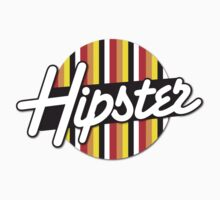 HIPSTER on a funky retro circle Kids Tee