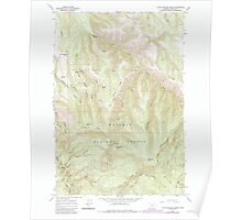USGS Topo Map Oregon Little Beaver Creek 280539 1965 24000 Poster
