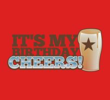 Cheers! It's my BIRTHDAY! with beer glass pint One Piece - Long Sleeve