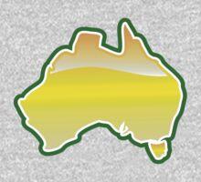 Australian Aussie Oz map  One Piece - Long Sleeve