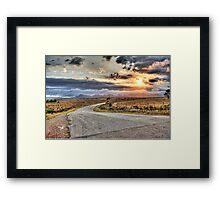 Sunset Drive Crecent Framed Print