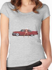 The Seventies are back - Red Cadillac Women's Fitted Scoop T-Shirt