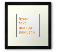 HTML - hyper text markup language Framed Print