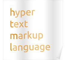 HTML - hyper text markup language Poster
