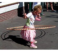 Little Hula Hoop queen  Photographic Print