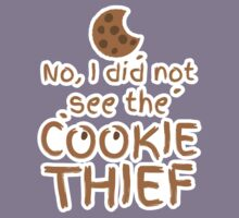 No, I did not see the cookie thief cute choc chip biscuit Kids Tee